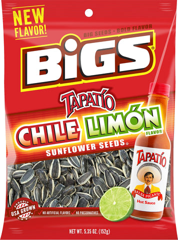 BIGS Chile Limon Sunflower Seeds, 5.35-ounce Bag (Pack of 3)