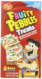 Post Fruity Pebbles Treats, 8-Count Treats (Pack of 4)