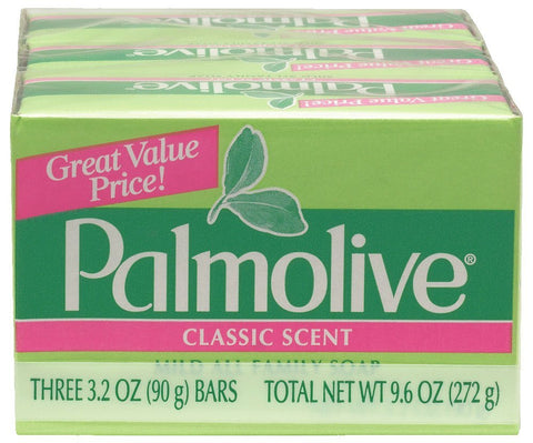 Palmolive Bath Bar Soap, 3.2 oz. Bars, 3-Count