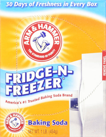 Arm & Hammer Fridge-N-Freezer Baking Soda, Odor Absorber 16 Oz (Pack of 6) 6 Lb Total