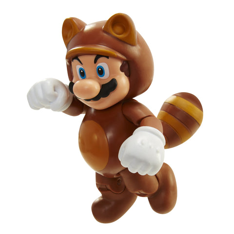 "World of Nintendo 91436 4"" Tanooki Mario with Coin Action Figure"