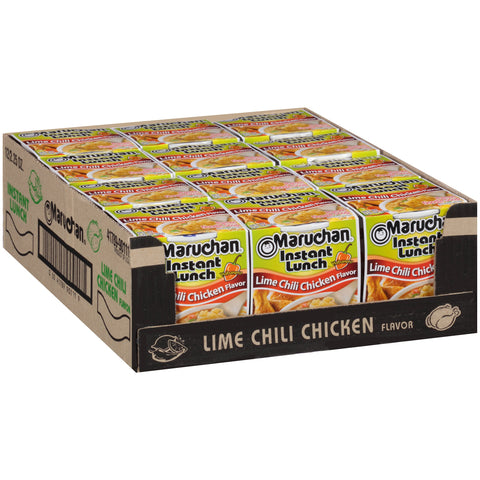 Maruchan Instant Lunch, Lime Chili Chicken, 2.25-Ounce Packages (Pack of 12)