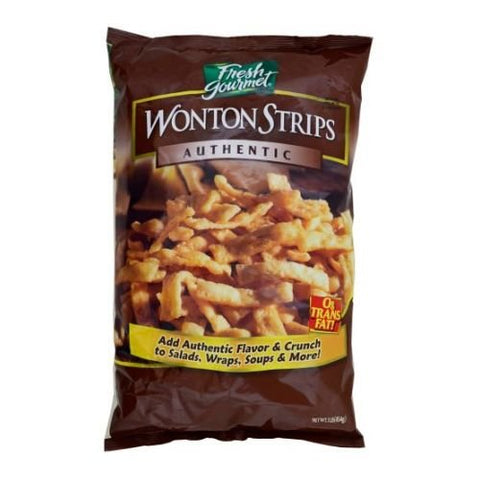 Sugar Foods Fresh Gourmets Wonton Strips, 1 Pound -- 10 per case.