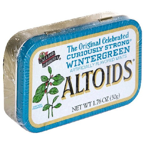 Altoids Wintergreen Mints 1.76 Ounce Tin