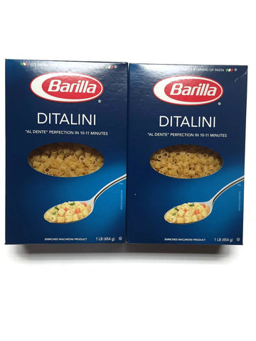 Barilla Ditalini Pasta, 16 Oz. (1 Lb.) Packages (Set of 2)