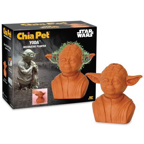 Chia Pet Star Wars Yoda with Seed Pack, Decorative Pottery Planter