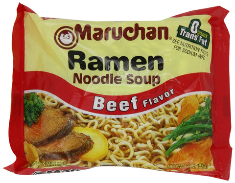 Maruchan Ramen, Beef, 3-Ounce Packages (Pack of 24)