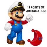 Nintendo Super Mario Captain Mario 4 Articulated Figure with Power Moon