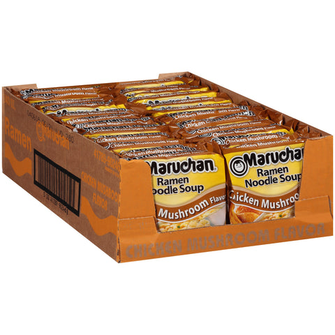 Maruchan Ramen, Chicken Mushroom, 3-Ounce Packages (Pack of 24)