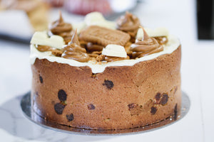 Lotus and white chocolate CookieCake