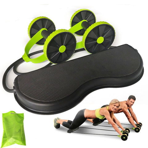 Roller Stretch Elastic Abdominal Resistance Pull Rope Tool AB roller for Abdominal muscle trainer