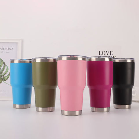 Stainless Steel Tumbler 30 oz with Splash Proof Sliding Lid