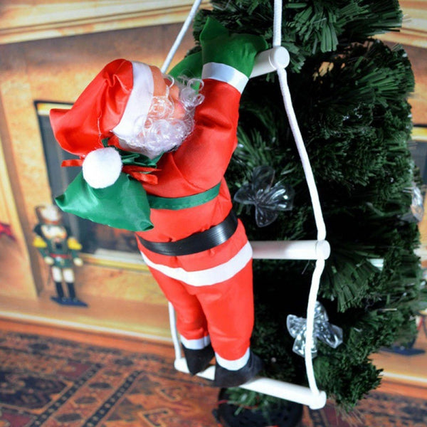 Climbing Ladder Santa Decoration