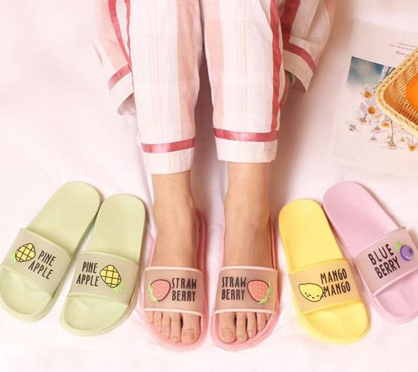 Summer Fruit Jelly Color Transparent Women Slippers