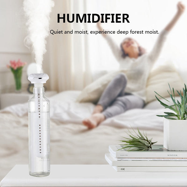 Donut Humidifier Portable Mini Water Bottle Caps Humidifier