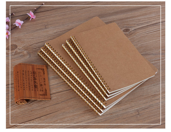 A5 Notebook Medium Kraft Grid