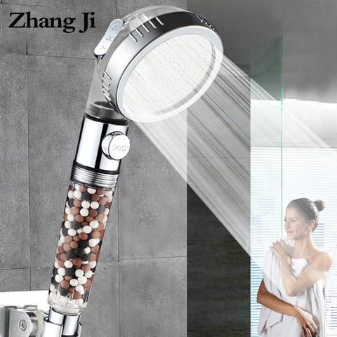 3-Function SPA shower head with switch on/off button high Pressure Anion Filter Bath