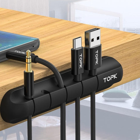 TOPK Cable Clip Holder Weighted Desktop Cord Management Fixture