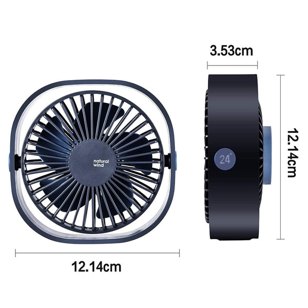 3 Speed Mini USB Desktop Fan with 360 Rotation Adjustable Angle
