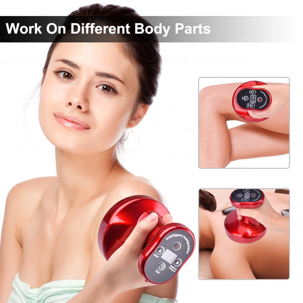 Electric Cupping Massager Body Guasha Massager Suction Scraping Massage Anti Cellulite Detoxification Apparatus Magnetic Therapy