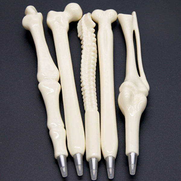5 pcs/lot Novelty Bone Shape Ballpoint Pen 0.7mm