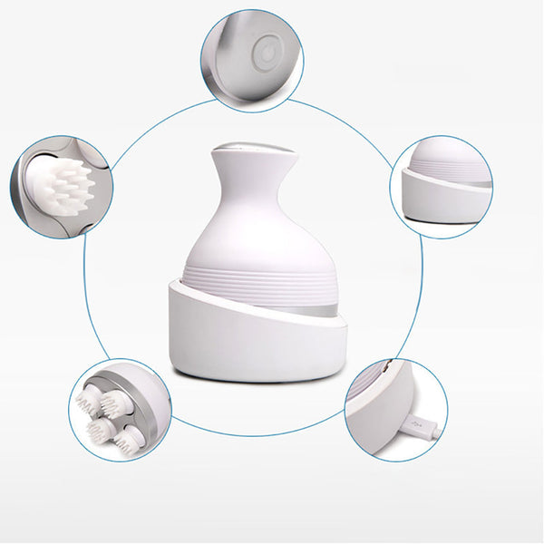 Intelligent Charging Massager 3D Automatic Rotate Waterproof Electric Massager For Pet and People