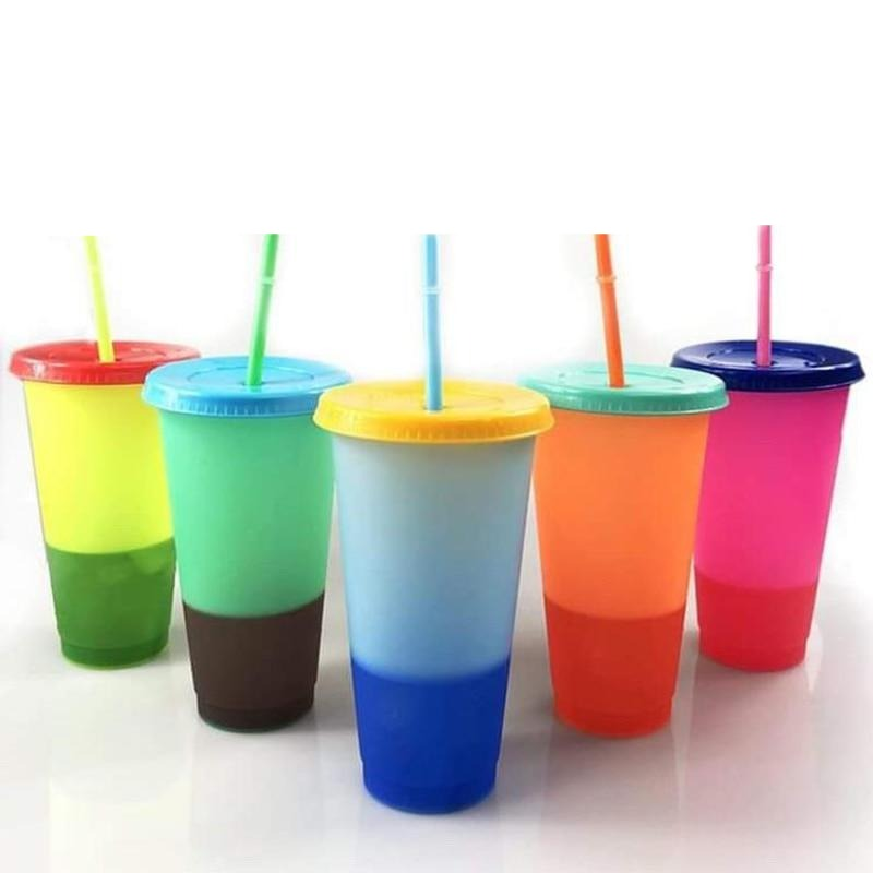 5pcs color changing drinking cup