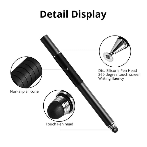 2 in 1 Capacitive Pen for All iOS and Android