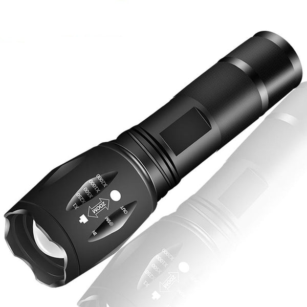 XM-L2 6000LM Aluminum Waterproof Zoomable CREE LED Flashlight for 18650 Rechargeable Battery or AAA