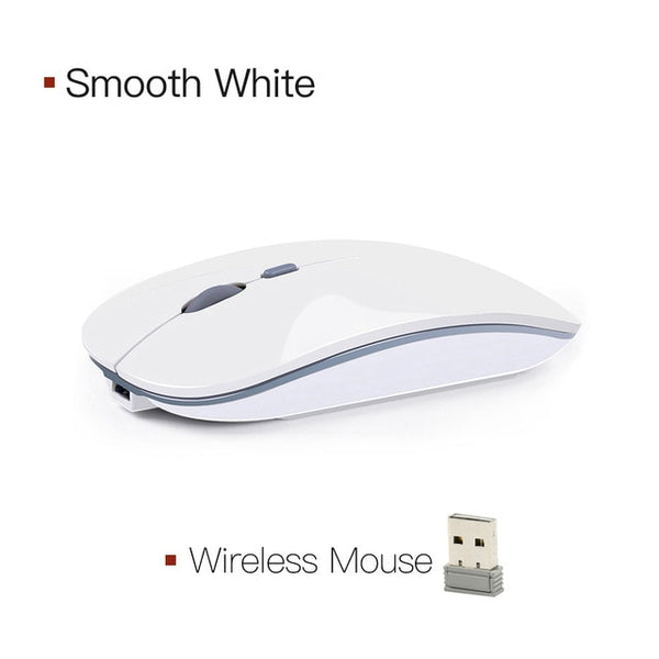 Bluetooth wireless mouse mute and rechargeable