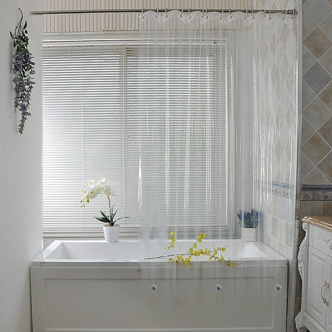 PEVA Clear Waterproof shower curtain liner