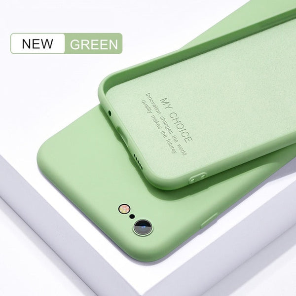 iPhone original liquid silicone case candy colors