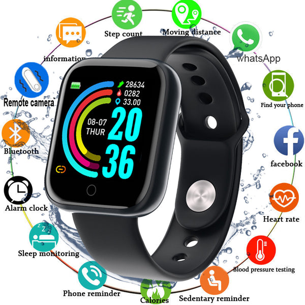 New Smart Waterproof Exercise Watch Monitors Blood Pressure and Heart Rate for Android IOS