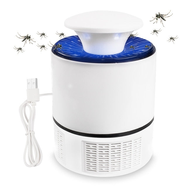 USB Electric No Noise No Radiation Insect Killer Flies Trap Lamp Anti Mosquito Lamp Home