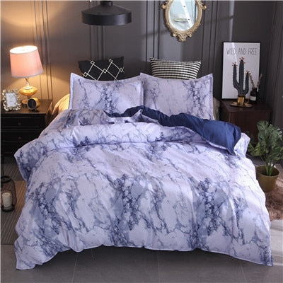 Printed Marble Bedding Set King Queen Size 3Pcs