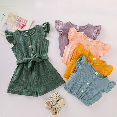 Baby Girls Buttoned Romper