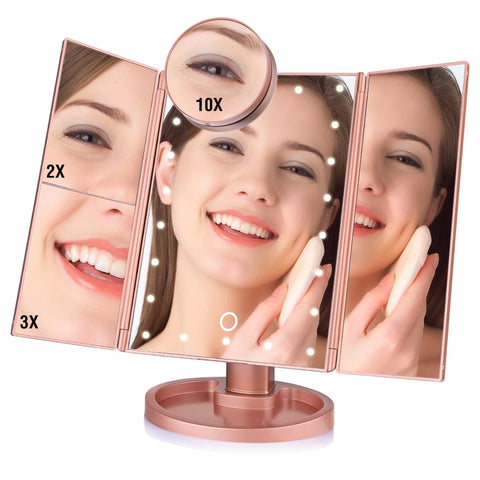 Makeup Mirror With Lights And Magnification