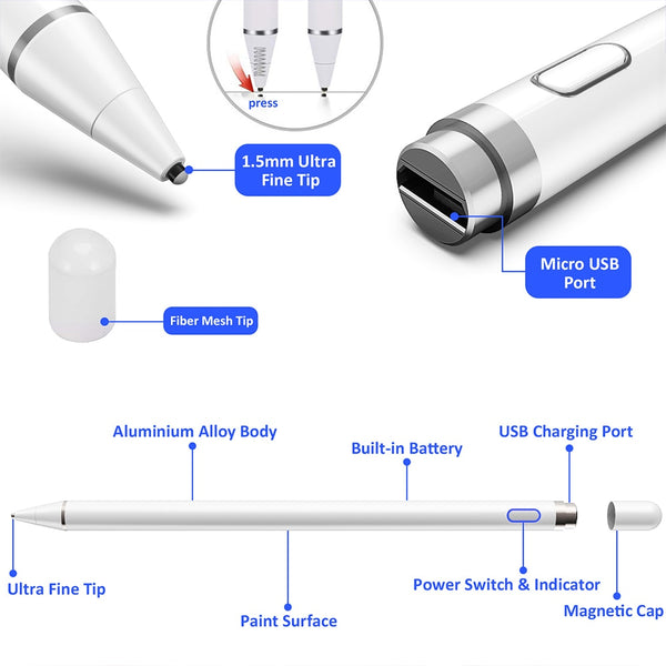 Universal Capacitive Stylus Touch for IOS/Android System