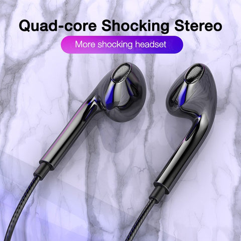 3.5mm Wired Headphones With Bass Earbuds Stereo Earphone