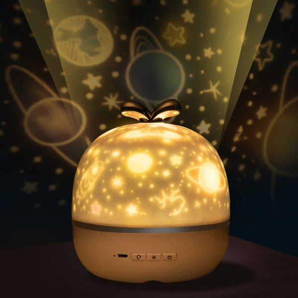 360 Rotation Starry Sky Music Projector