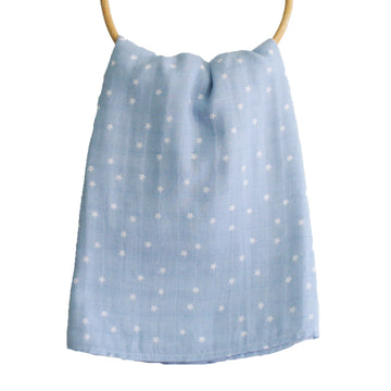 Alimrose Muslin Swaddle Starry Night Blue