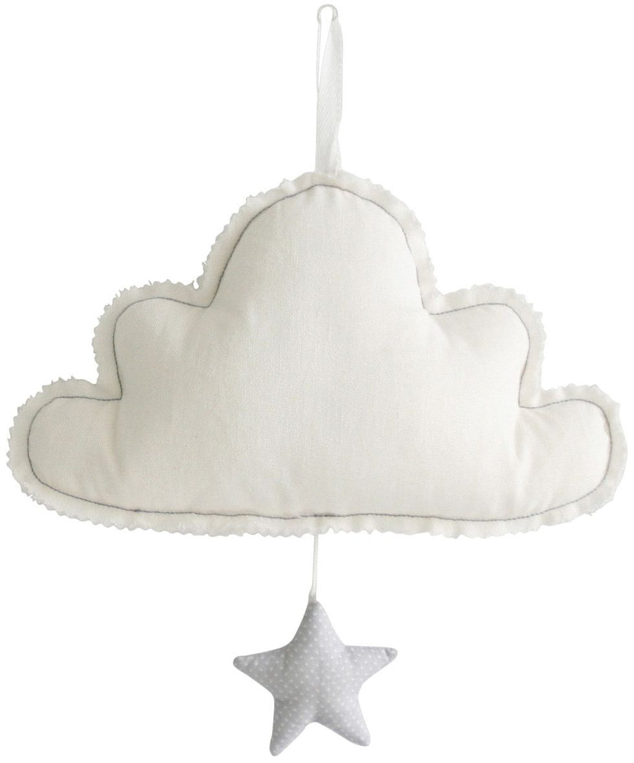 Alimrose Sleepy Time Cloud & Star Musical - Ivory & Grey