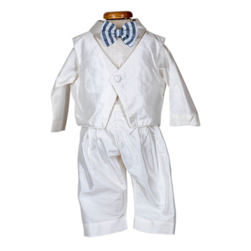 White Silk Suit Set