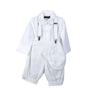 Execukids Linen 5 Piece Suit (White)