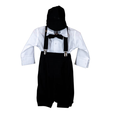 Execukids Linen 5 Piece Suit (Black)