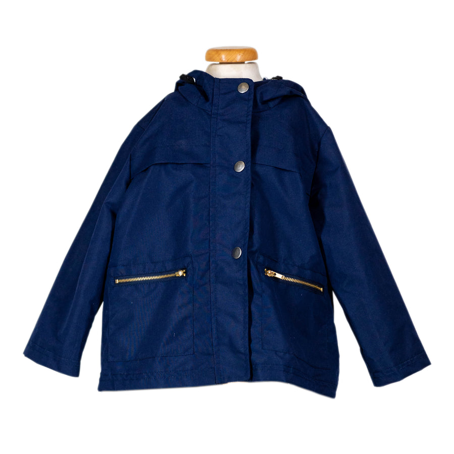 Korango Navy Micro fibre Waterproof Jacket