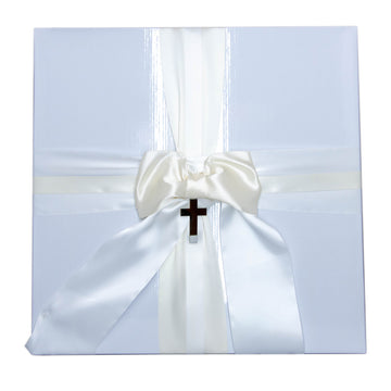 Preservation Christening Box Ivory & White Satin