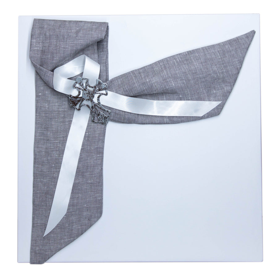 Preservation Christening Box Grey Linen