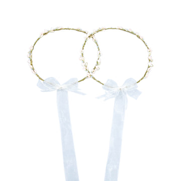 Stefana Wedding Crowns Dainty Leather