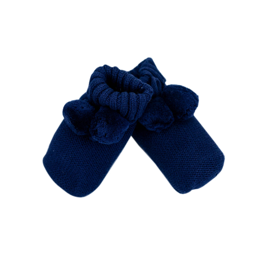Knitted Booties Navy